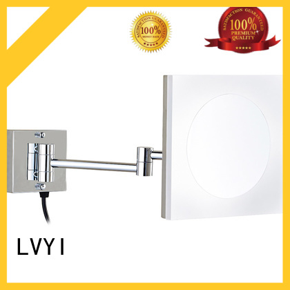 Wholesale wall mounted lighted makeup mirror makeup supply for home