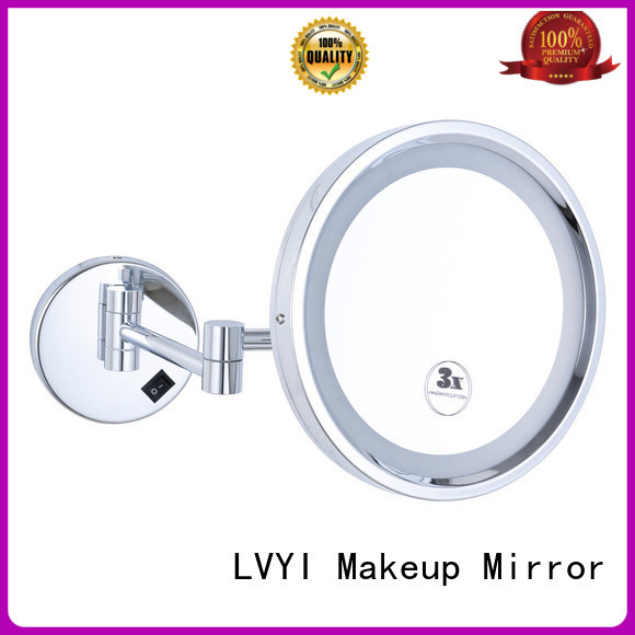 LVYI light wall mounted led makeup mirror manufacturers for bedroom
