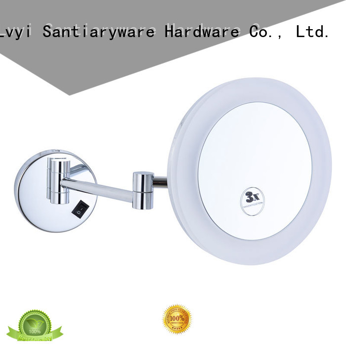 LVYI 1803d wall mounted lighted makeup mirror supply for hotel