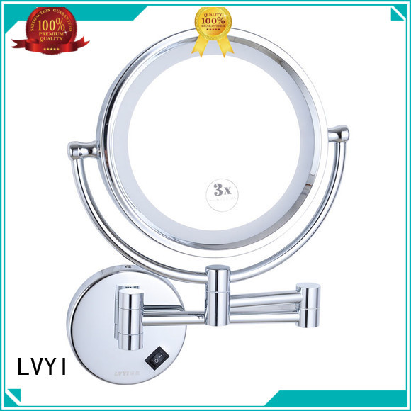 LVYI magnifying wall mounted led makeup mirror for business for customization